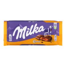 Piena šokolāde Milka ar karameļu pild. 100g