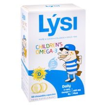 Košļ. kapsulas Lysi Omega-3+D3,bērniem, 60 t.