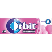 Košļājamā gumija Orbit Bubblemint 14g