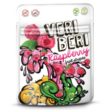 Avietinės vaisių juostelės VERI BERI, 50g