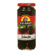 Melnās olīvas Figaro bez kauliņiem 340g/160g