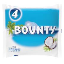 Šokolādes batoniņi Bounty 4paka 228g