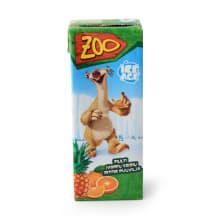 Įvairių vaisių gėrimas ZOO ICE AGE, 0,2l