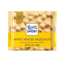 Ritter sport valge šok. pähklitega, 100g