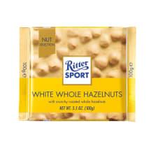 Baltā šok. Ritter Sport lazdu riekstu 100g