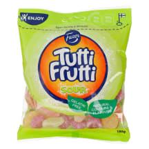 Kummikommid Fazer Tutti Frutti Sour 180g
