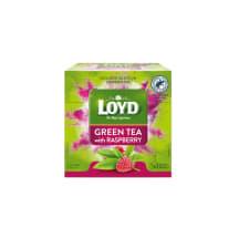 Zaļā tēja Loyd Pyramids aveņu 30g