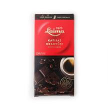 Tumšā šokolāde Laima ar kafijas kraukšķ. 100g