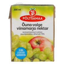 Õuna-valge viinamarja nektar Põltsamaa 0,2l