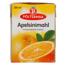 Apelsinimahl konts.mahlast Põlts. 0,2l