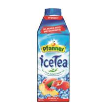 Persikų skonio šaltoji arbata PFANNER, 0,75l