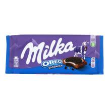 Šokoladas su sausainiais MILKA OREO, 92 g