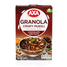 Krõbe müsli šokolaadi ja pähkli Axa 375g