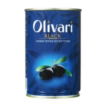 Juod. alyvuogės be kauliukų OLIVARI, 300 g