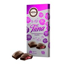 Tume šokolaad täidisega Kalev Tiina 108g