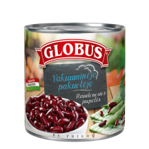 Konservuotos raudonosios pupelės GLOBUS, 326g