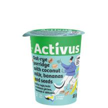 Avižinė košė su kokoso pienu ACTIVUS, 55 g