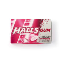 Kramtom. guma HALLS ICE RUSH WATERMELON, 18g