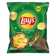 Žaliųjų svogūnų bulvių traškučiai LAY'S, 265g