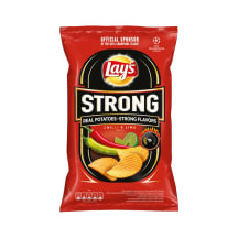 Žal.citr. bulvių traškučiai LAY'S STRONG, 130