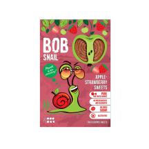 Obuolių ir braškių juostelės BOB SNAIL, 60 g