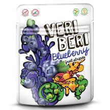 Vaisinės mėlynių juostelės VERI BERI, 50g