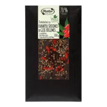 Šokoladas su saldikliais kanapių sėkl. 100 g