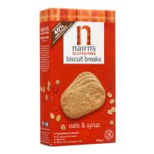 Aviž. sausainiai be glit.sirup., NAIRN'S, 160
