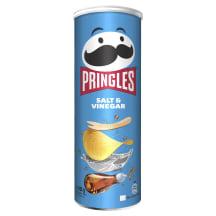 Bulvių trašk. PRINGLES SALT & VINEGAR, 165 g