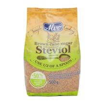 Rudasis cukrus su stevija ALVO, 500 g