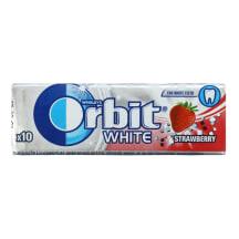 Kramtomoji guma ORBIT WHITE STRAWBERRY, 14g