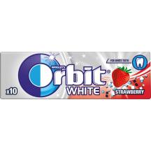 Košļājamā gumija Orbit White ar zemeņu g. 14g
