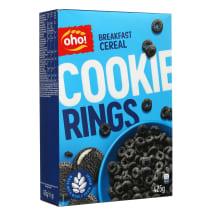 Sausi pusryčiai OHO COOKIE RINGS, 425 g