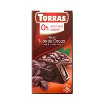 Rūgtā šokolāde Torras ar kakao pup. b/c 75g