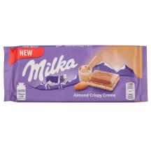 Piena šokolāde Milka Almond Crispy Creme 90g