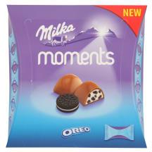 Piimašokolaadi kommid Moments Oreo Milka 92g