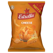 Čipsi Estrella ar siera garšu, rievoti, 130g