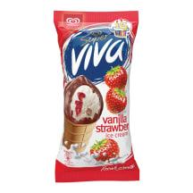 Saldējums Super Viva ar zemeņu iev.180ml/100g