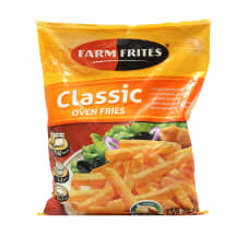 Ties. bulvytės kepti orkait. FARM FRITES,750g