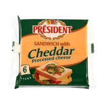 Raik. lydyt. sūris PRESIDENT CHEDDAR,18%,120g