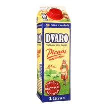 DVARO pienas, 3,5% rieb., 1l