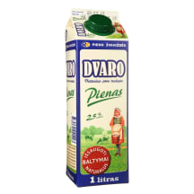 DVARO pienas, 2,5% rieb., 1l