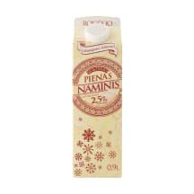 Rokiškio NAMINIS pienas, 2,5% rieb., 0,9l