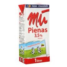 Natūralus pienas MŪ, 3,5% rieb., 1l