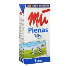Pienas MŪ, 1% rieb., 1l