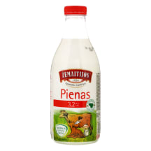 Pienas ŽEMAITIJOS, 3,2%, 1l