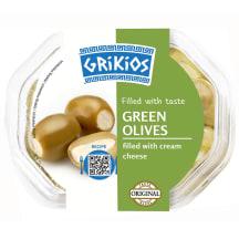 Zaļās olīvas ar siera pildījumu 250/150g