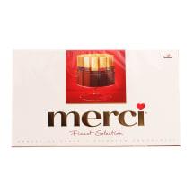 Šokolad. saldainių rinkinys MERCI RED, 400g