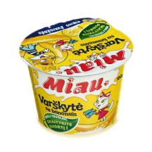 Ekol. varškytė su bananais MIAU, 6%, 100g
