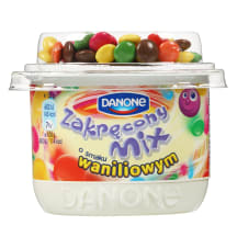 Jogurts Danone Zakrecony mix ar van. gar.125g